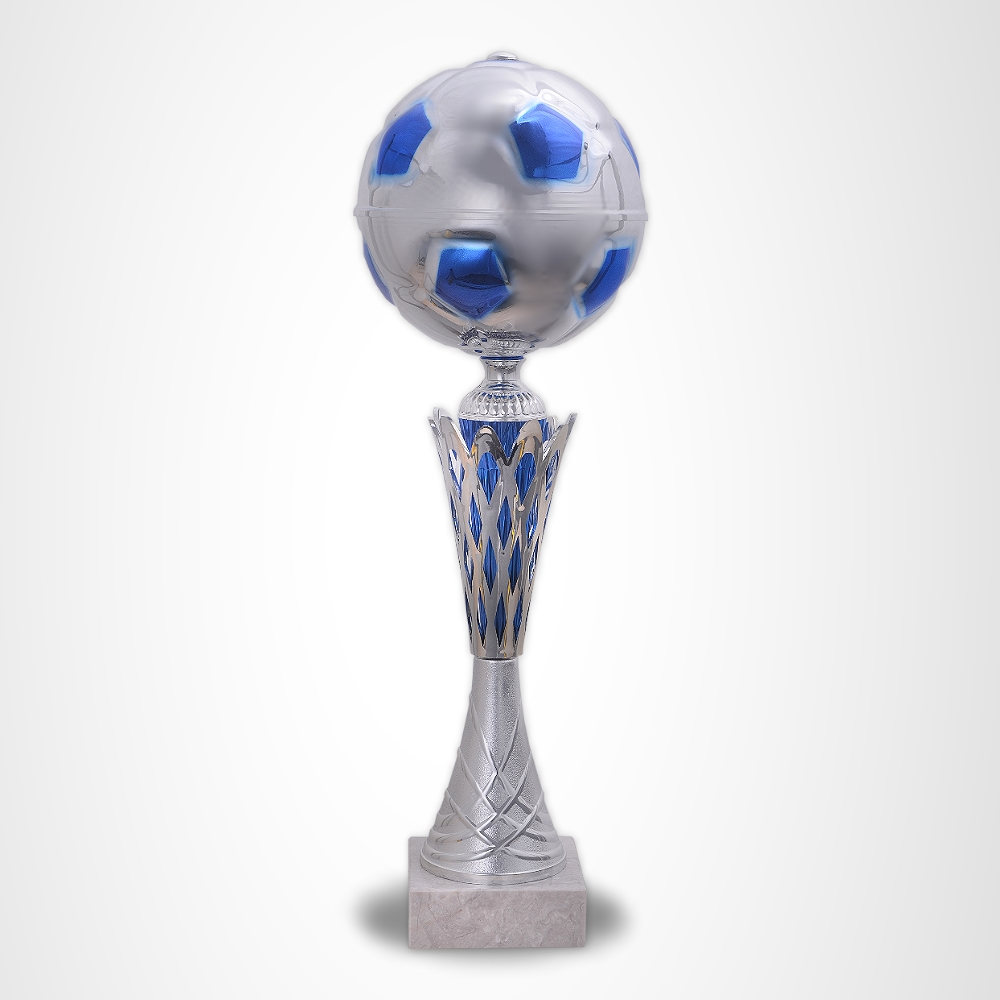 3er Fussball Pokale Magic Champion  Blue ab 41cm