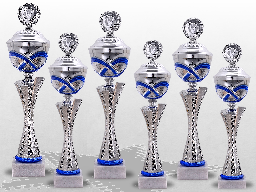 6er Pokalserie MONTANA BLUE mit Deckel ab