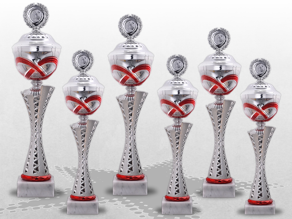 6er Pokalserie MONTANA RED mit Deckel ab