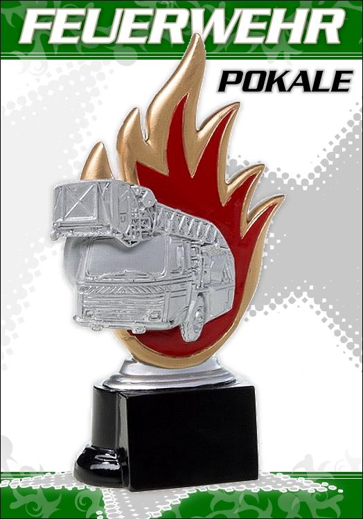 Feuerwehr Pokalserie Figur FIRE II ab 16cm