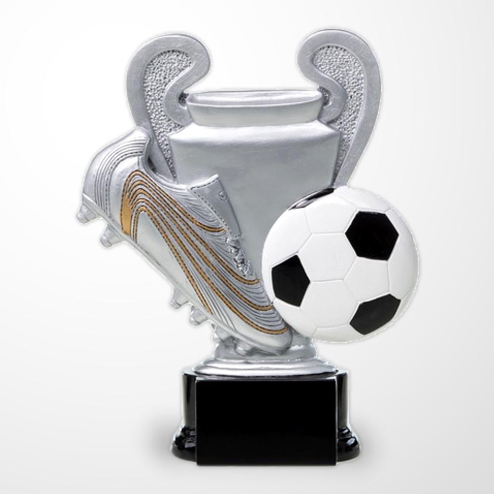3er FUSSBALL Pokalserie Figur Champions ab 16cm