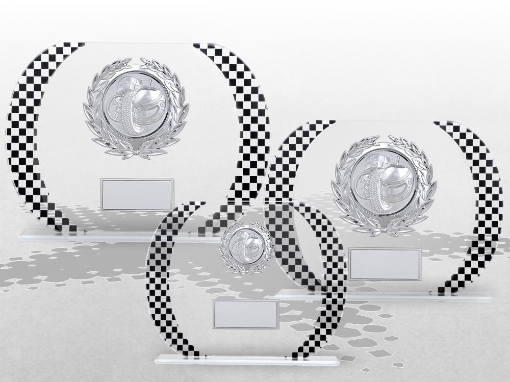 3er Glaspokale MOTORSPORT RACING ab 13cm