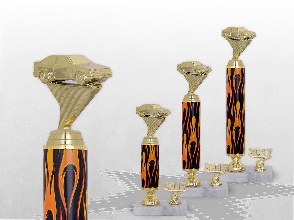 Säulenpokale AUTO SHOW FLAMES TROPHY mit Gravur ab 25cm