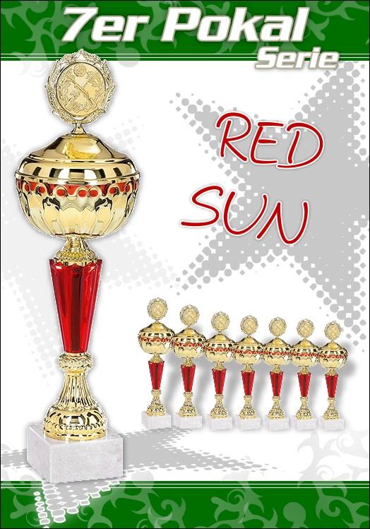 7er Pokalserie Pokale Red Sun ab 29 cm