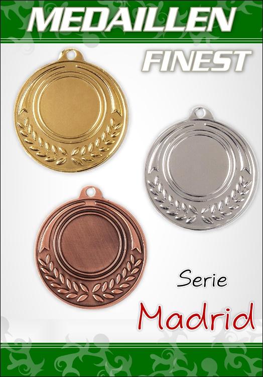 10 Medaillen Madrid inkl. Band und Emblem