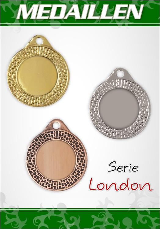 100 Medaillen London inkl. Band und Emblem im Sparpaket