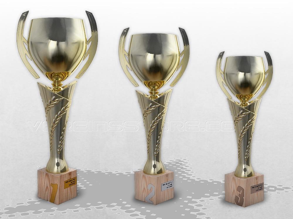 Award Ehrenpreise Pokale Golden Wood