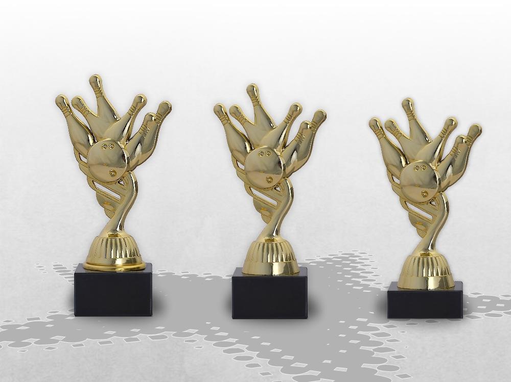 Bowling Pokale als 3er Serie erhältlich ab 14,5cm
