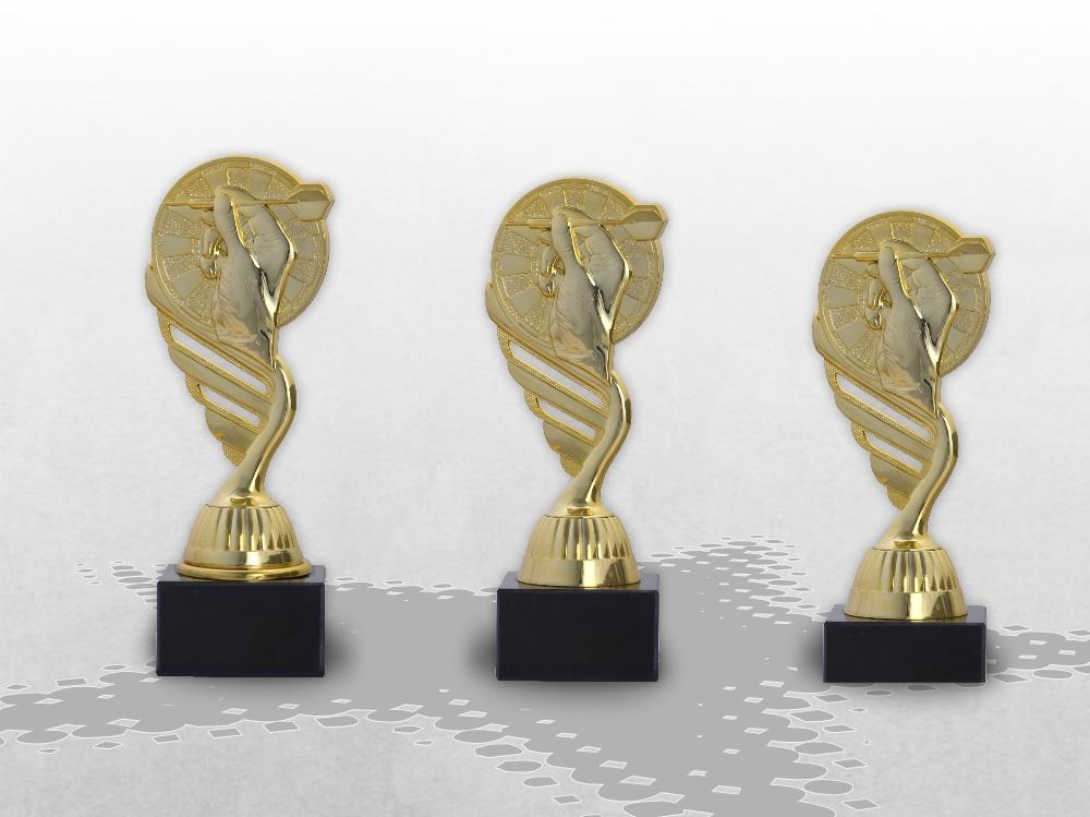 Dart Pokale als 3er Serie erhältlich ab 14,5cm