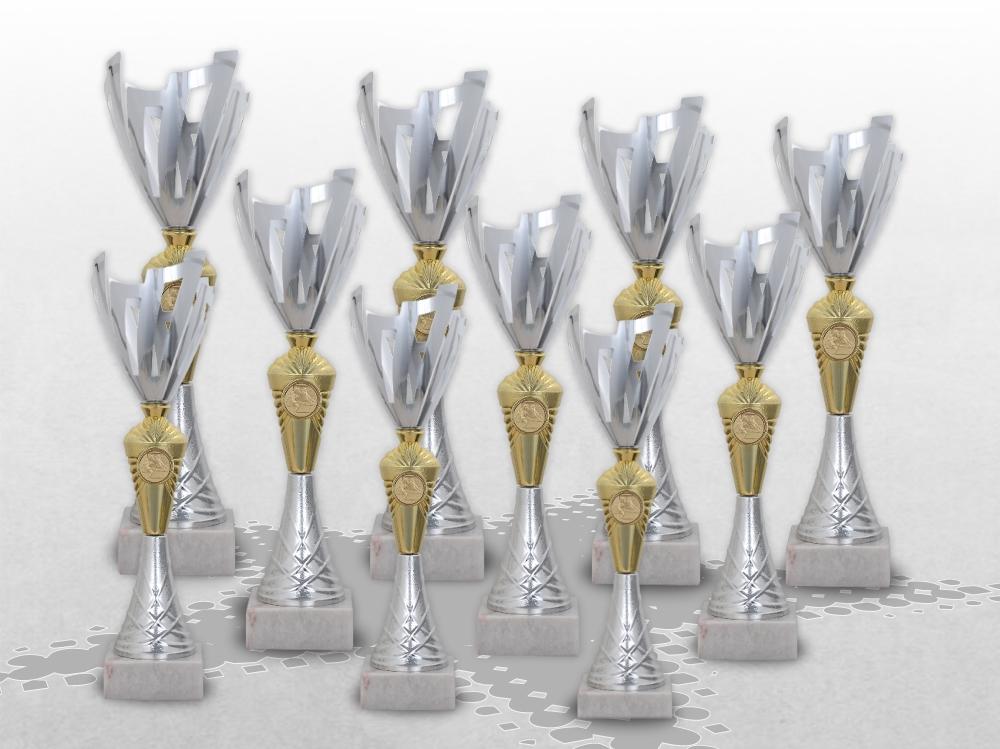 10er Pokalserie Pokale ROYAL mit Gravur