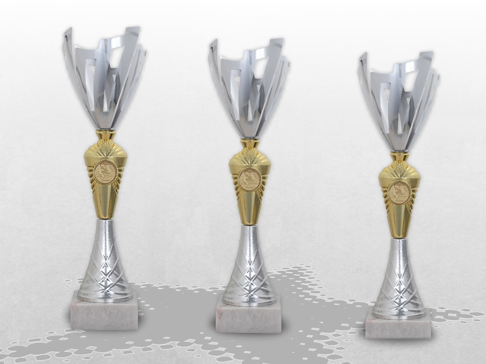 3er Pokalserie Pokale ROYAL mit Gravur