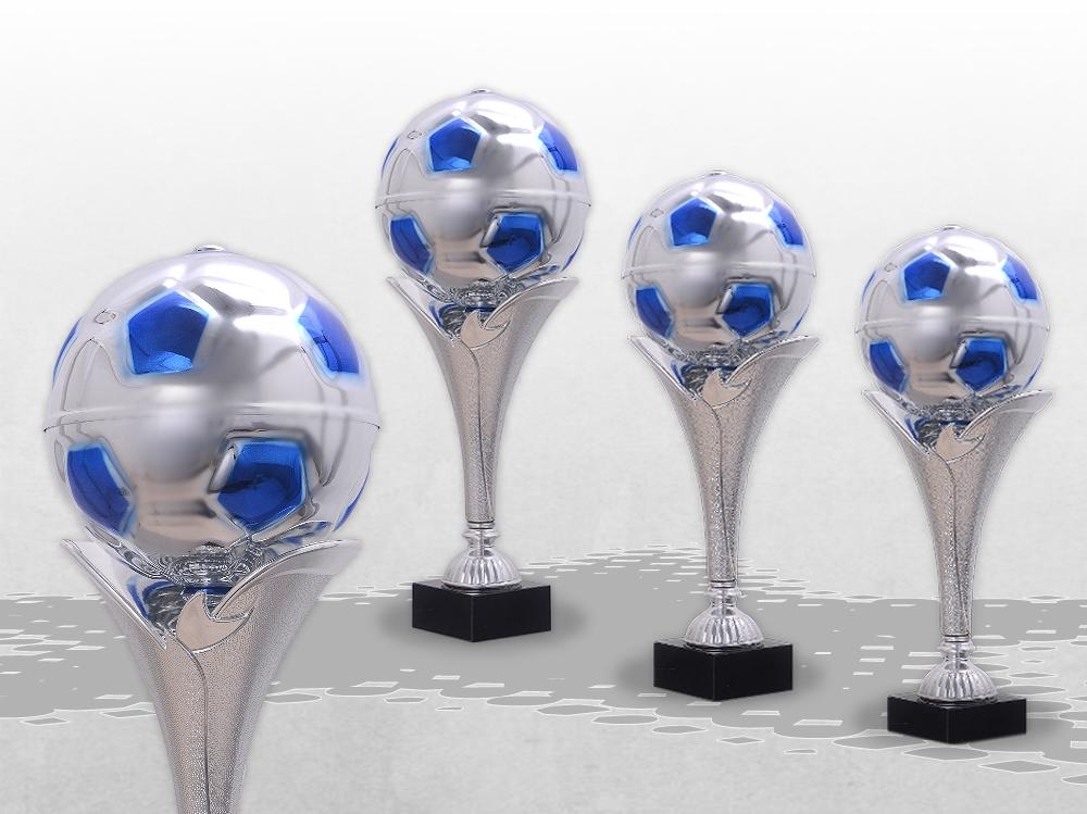 3er Fussball Pokale Magic Blue ab 33cm