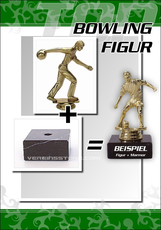 Pokale - Figur Bowling 12,5 cm