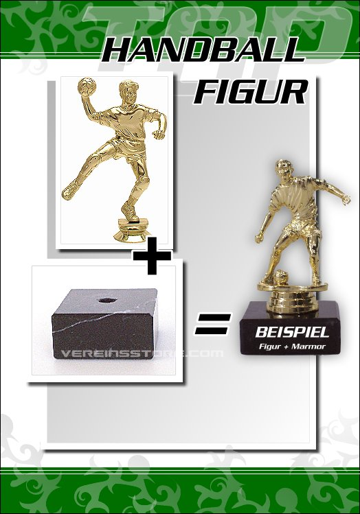 Pokale - Figur Handball 16 cm