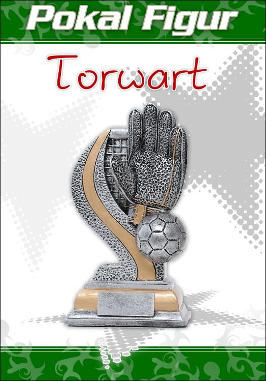 1er Pokale Resin Figur Fussball Torwart ab 13,5 cm