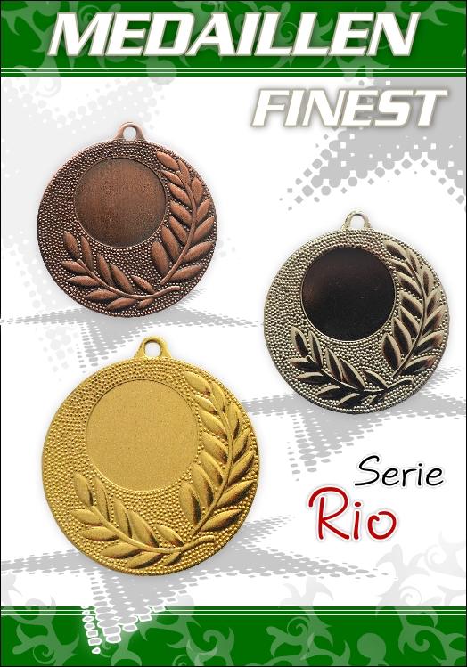 10 TOP Medaillen inkl. Band, Emblem und Beschriftung