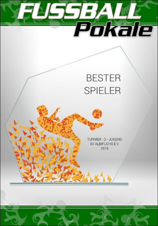 Glaspokale Fussball Bester Spieler 18 cm M62