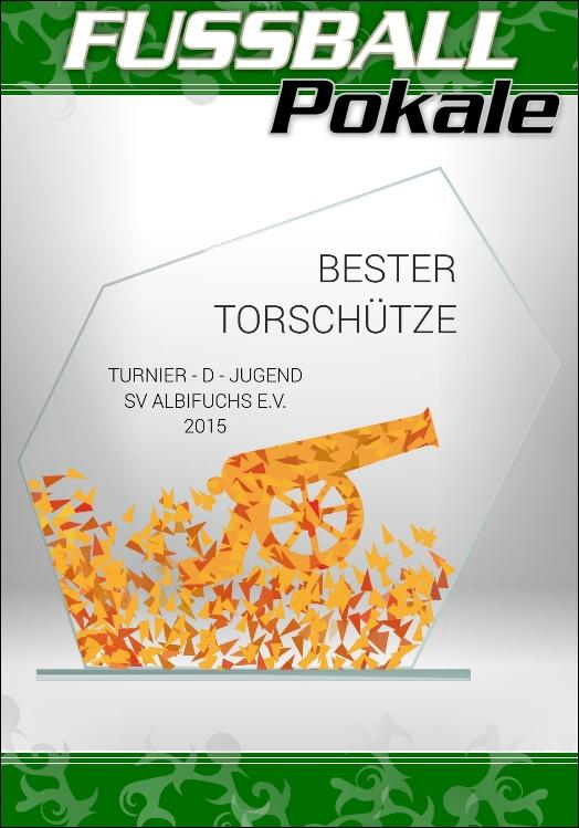 Glaspokale Fussball Bester Torschütze 18 cm M62