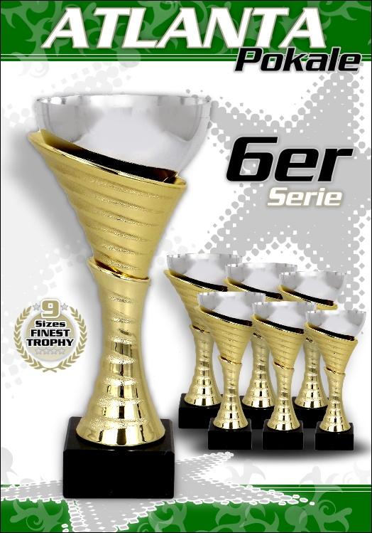 6er Pokalserie Pokale Atlanta ab 20,5cm