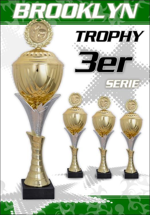 3er Wanderpokalserie Brooklyn Pokale ab 47cm