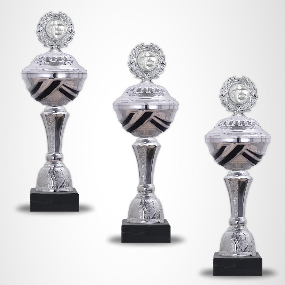 7er Pokalserie Pokale BlackSilver ab 21 cm