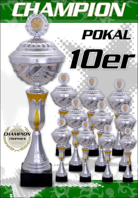 10er Pokalserie Pokale Champion ab 25,5 cm