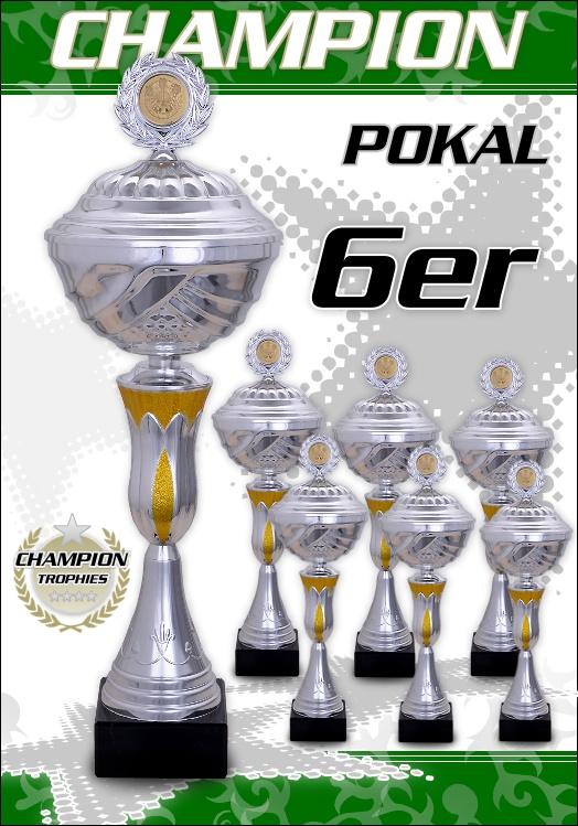 6er Pokalserie Pokale Champion ab 25,5 cm