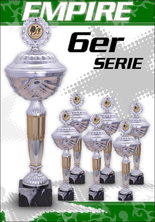 6er Pokalserie Pokale Empire ab 25,5 cm