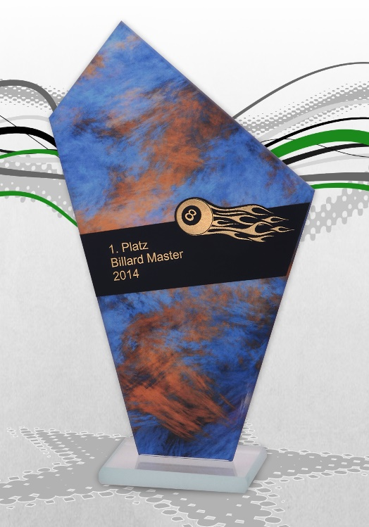 Glaspokale Billard Pokale MAGIC mit Gravur