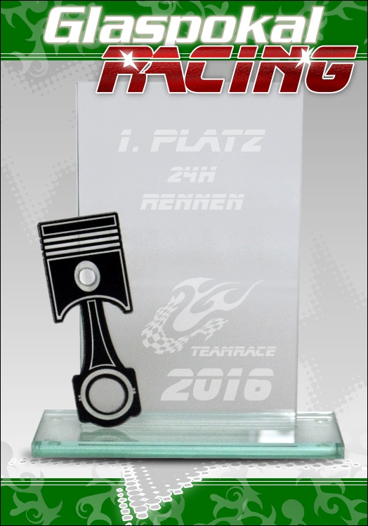 Kart pokale racing trophy glaspokale pokale glas for Glaspokale mit gravur