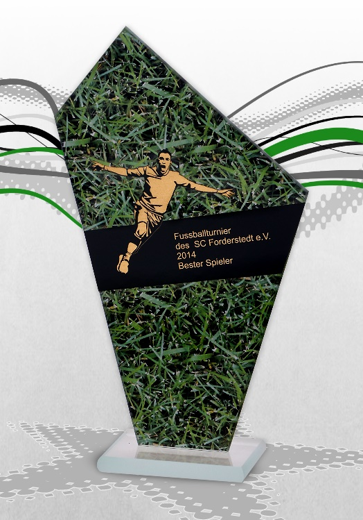Glaspokale SOCCER GOAL Pokale Fussball