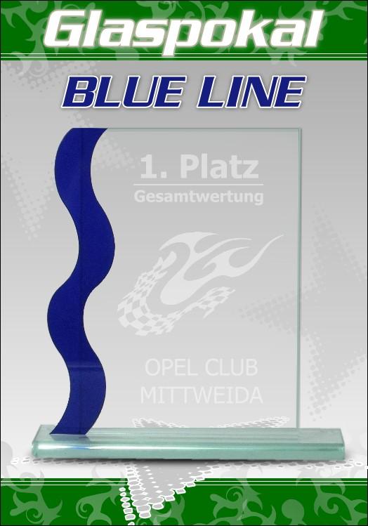 Glaspokale glas pokal mit gravur blue line 1 top pokale ebay for Glaspokale mit gravur