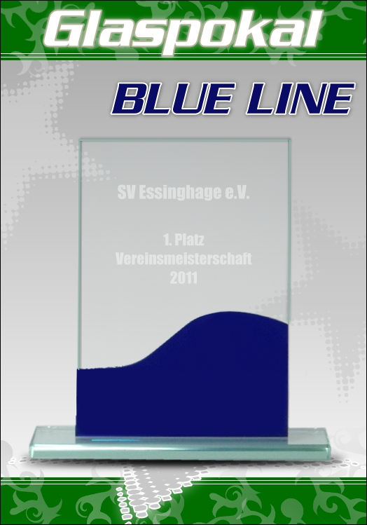 Glaspokale glas pokal mit gravur blue line 2 top pokale ebay for Glaspokale mit gravur
