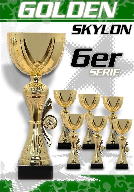 6er Pokale Golden Skylon