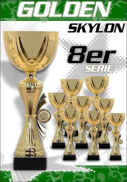 8er Pokale Golden Skylon