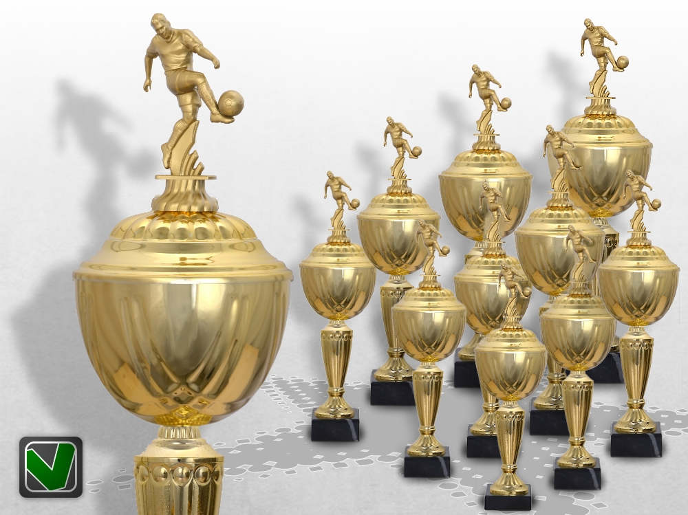 10er Fussball Pokalserie Pokale Prestige ab 31 cm