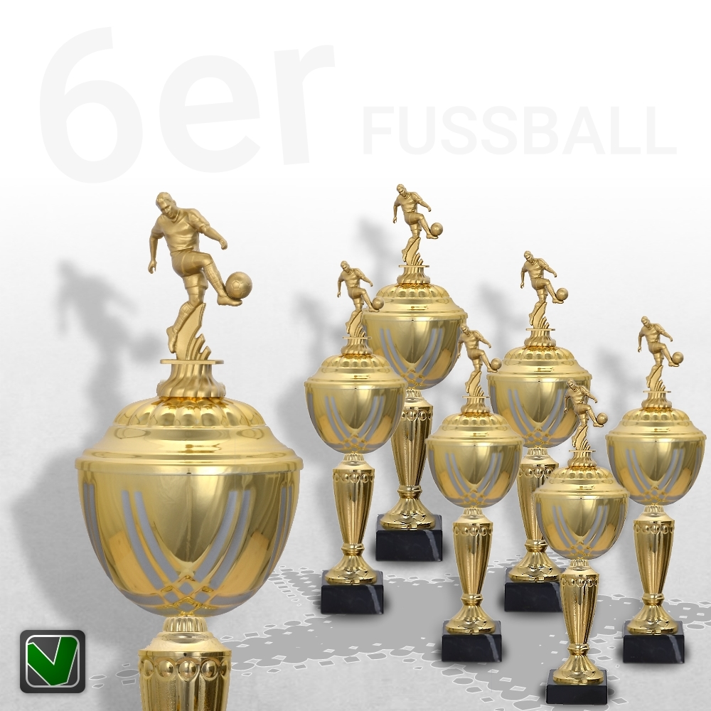 6er Fussball Pokalserie Pokale Prestige ab 31 cm