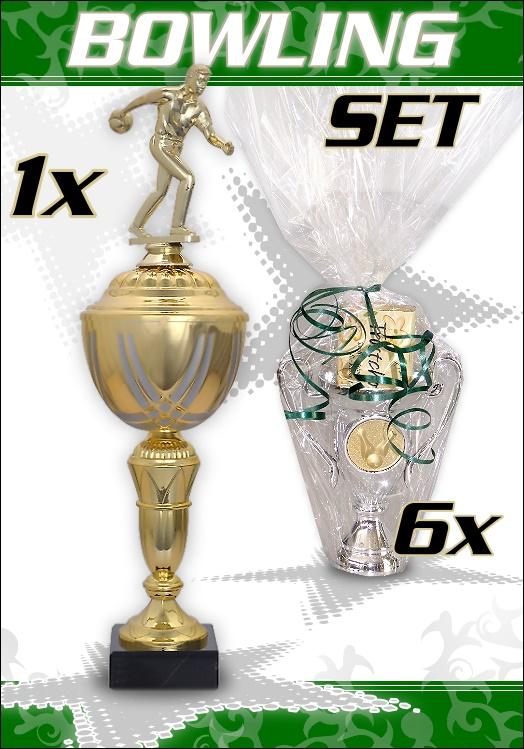 7 Pokale : Bowling Pokal + 6 Trost Pokale