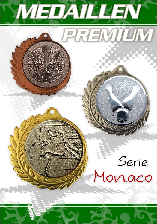 1 Medaillen TOP Monaco PREMIUM 7 cm