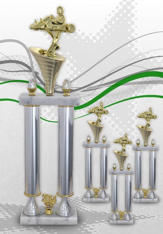 GoKart Säulenpokal in 3 Größen