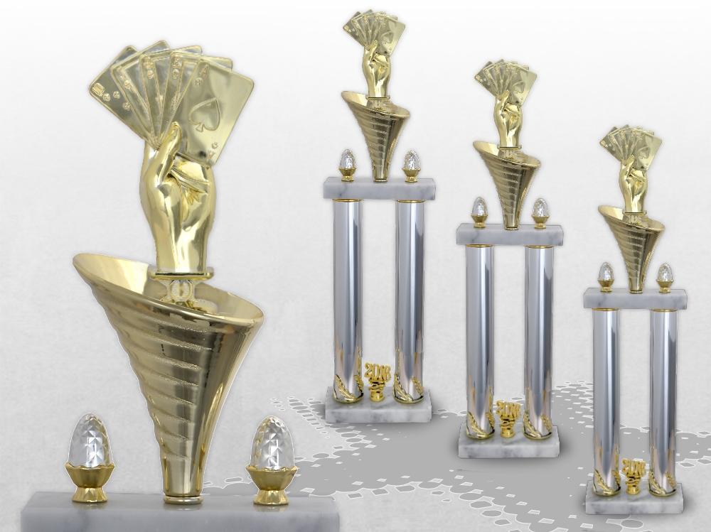 Poker Skat Säulenpokal in 3 Größen