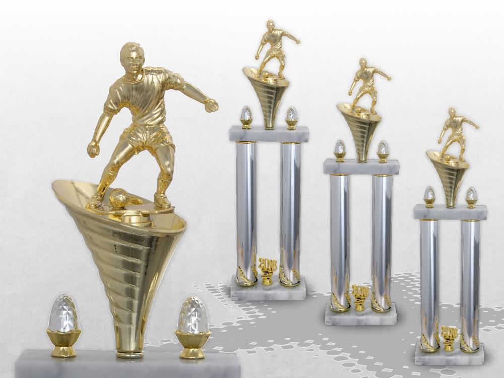 Fussball Säulenpokal in 3 Größen