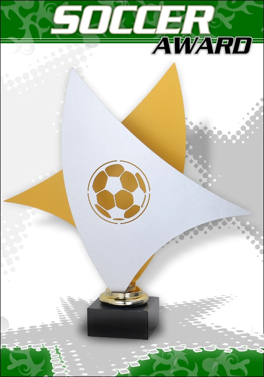 3er Fussball DUO AWARD Pokale ab 27cm