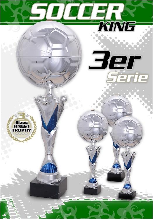 3er Fussball Pokale SOCCER KING