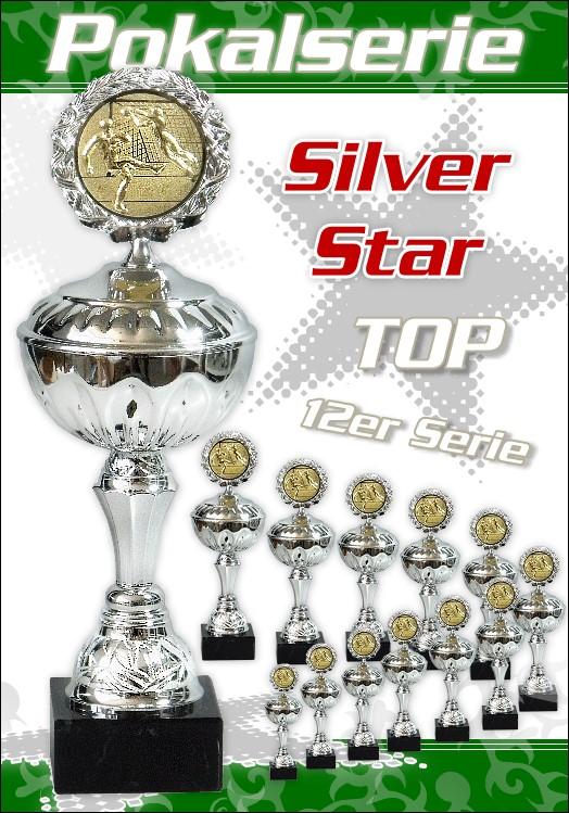 12er Pokalserie Pokale SilverStar ab 23 cm