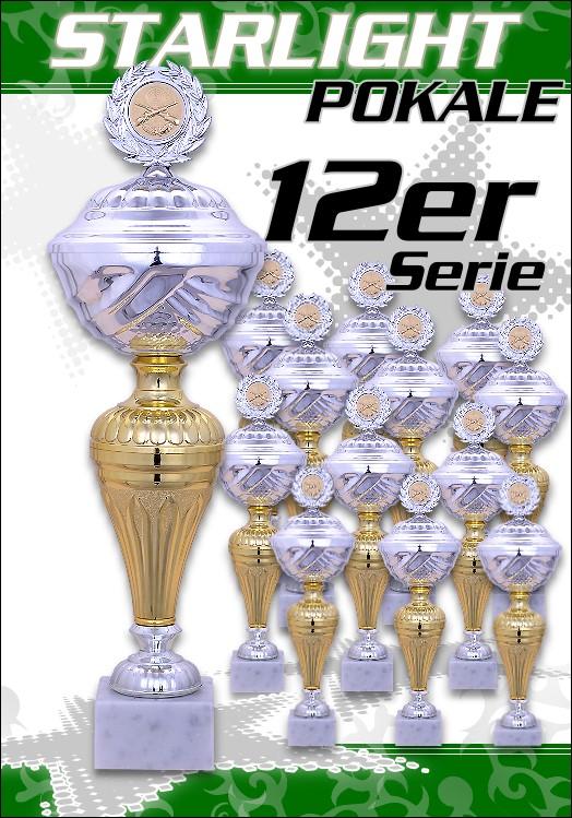 12er Pokalserie Pokale Starlight ab 23,5 cm