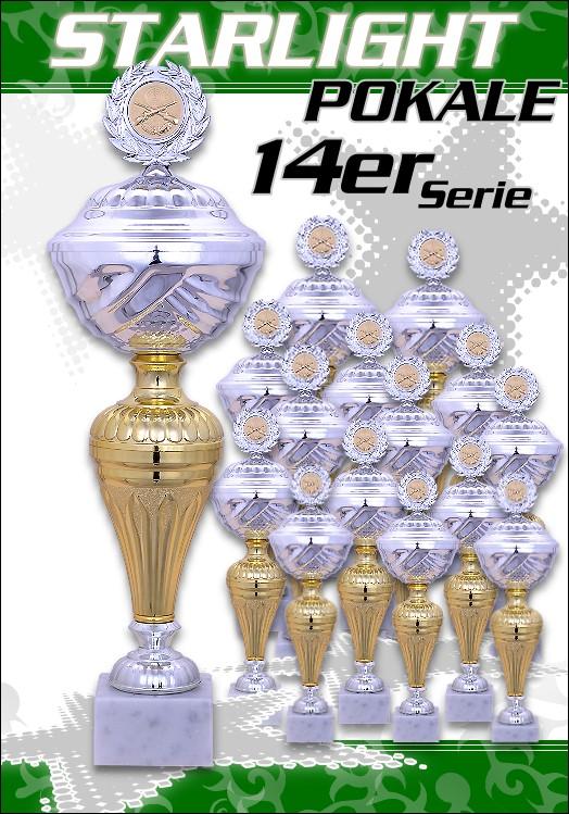 14er Pokalserie Pokale Starlight ab 23,5 cm