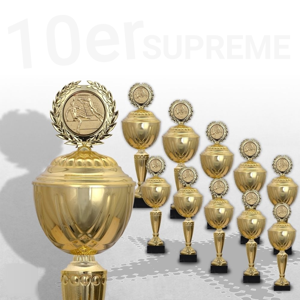 10er Pokalserie Pokale GOLDEN SUPREME ab 30,5 cm