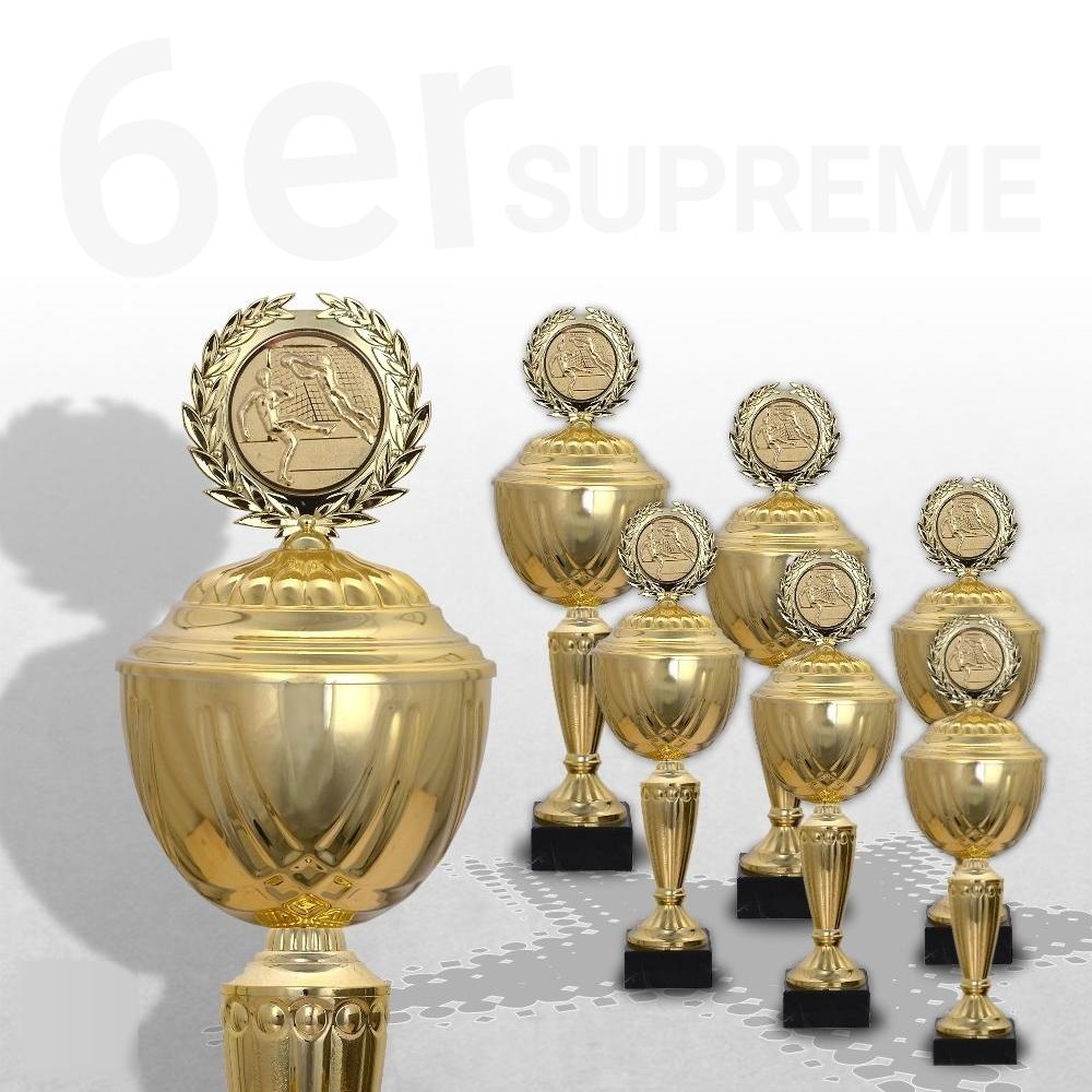 6er Pokalserie Pokale GOLDEN SUPREME ab 30,5 cm