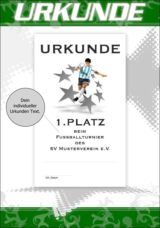 Urkunde Urkunden Fussball ab 3er Set